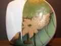 Blüte - grün-gold - Vase - 20cm