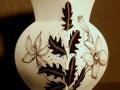 Blüten - schwarz-weiß - Vase - 20cm
