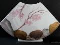Frühlingsblüten - Vase Fächerform