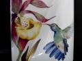 Orchidee-Kolibri-Vase - 25cm