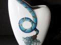 Vase - Federarbeit - 20cm