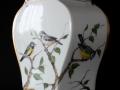 Vase - Vogelmotiv - 30cm hoch