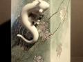 Viereckvase Salamander