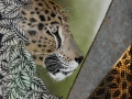 Bildplatte - 25cm - Jaguar mit grafischen Elementen