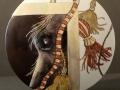 Scheibenvase - 20cm - Pferdeauge